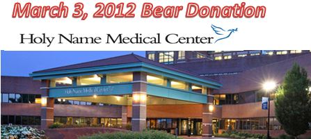 Holy Name Hospital bear donation